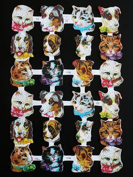 Cromos de gatitos y perritos