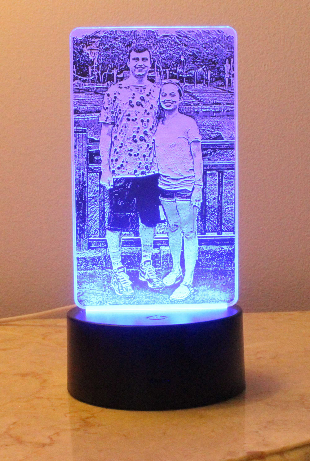 Photo On Acrylic Laser Etched 3d Led Night Light Night Light 3d Illusion Lamp