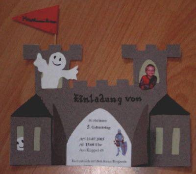 Einladungskarte Für Kleine Ritter Druckversion@creadoo  Die Nr.1 In  Kreativer Freizeit!