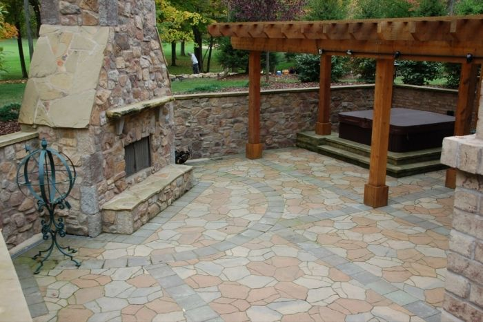 Walk out basement landscape spacious lower level patio for Walkout basement patio ideas
