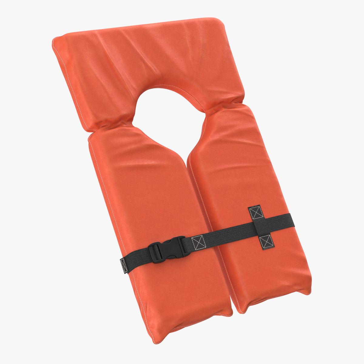 3D Life Jacket Vest Clear Equipment Wear Clothes Sea Sport