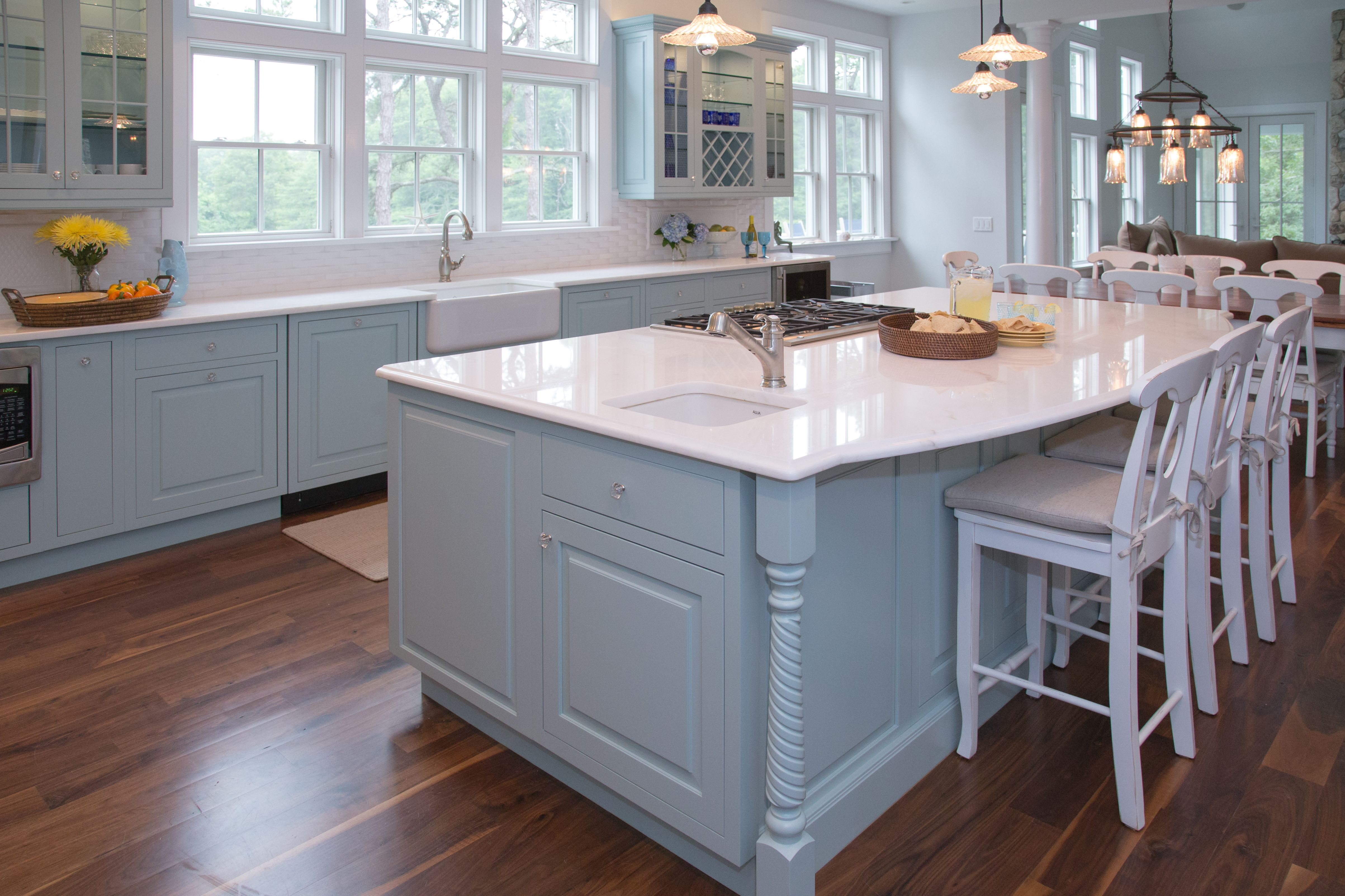 Custom Kitchen Design | Seaside Vacation Home | Designed ...