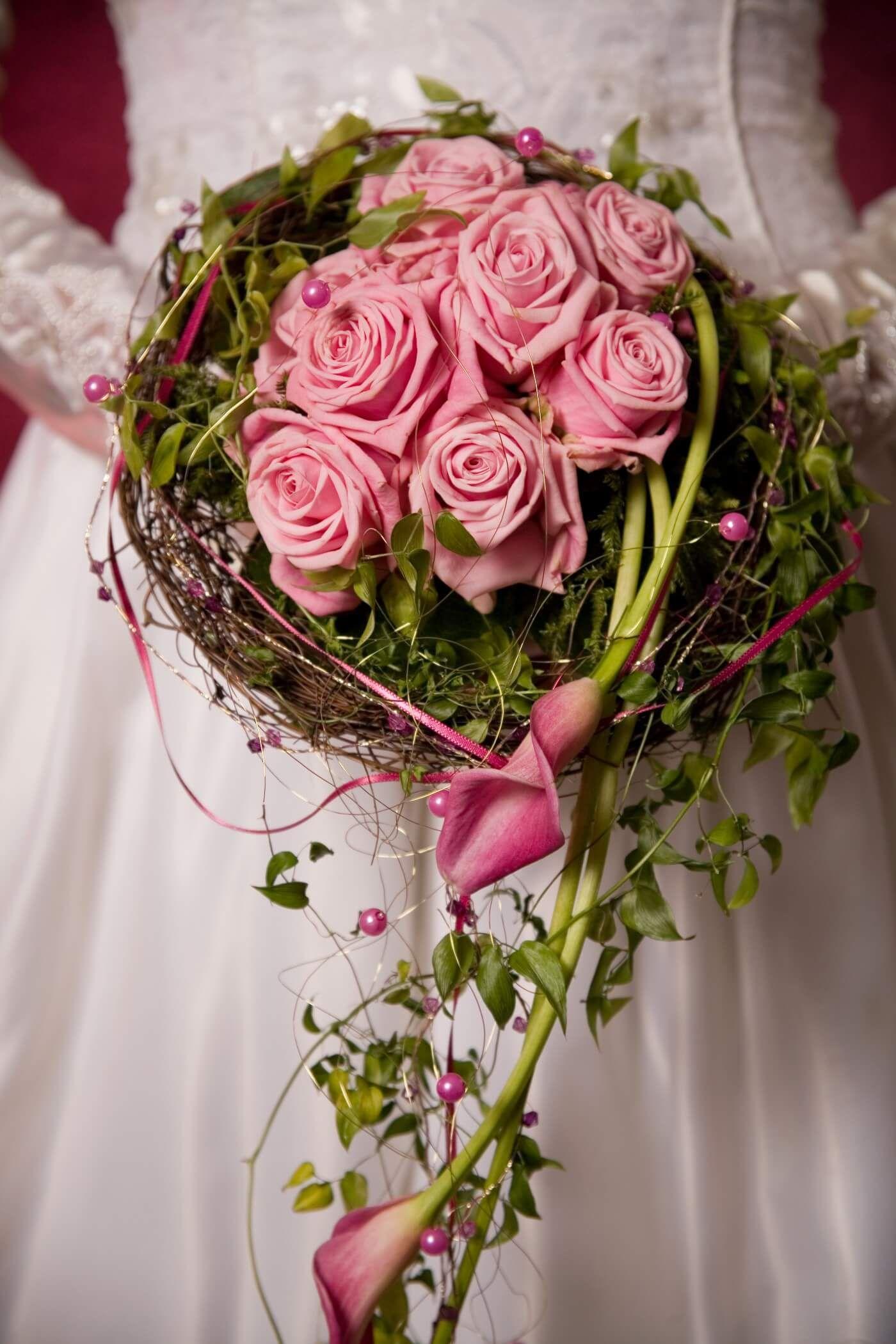 Hochzeitsstrauss Calla Rosen Bildergalerie Floristik Pinterest