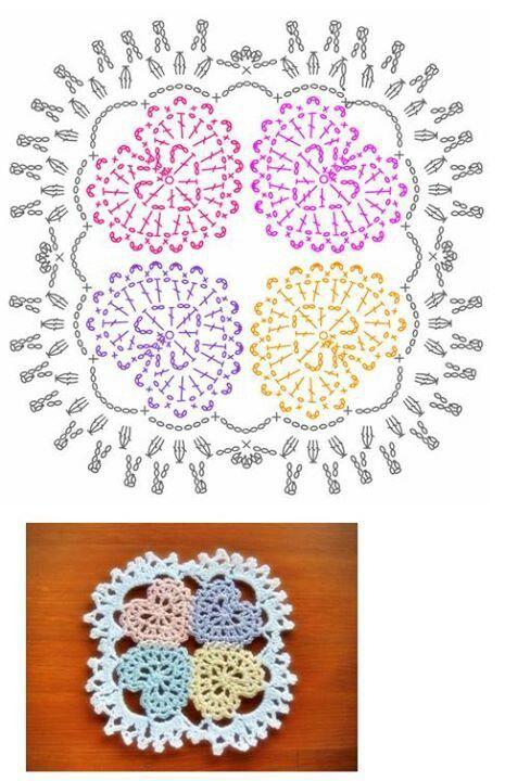 ❤CQ #crochet #hearts #valentines | flores, corazones, mariposas ...