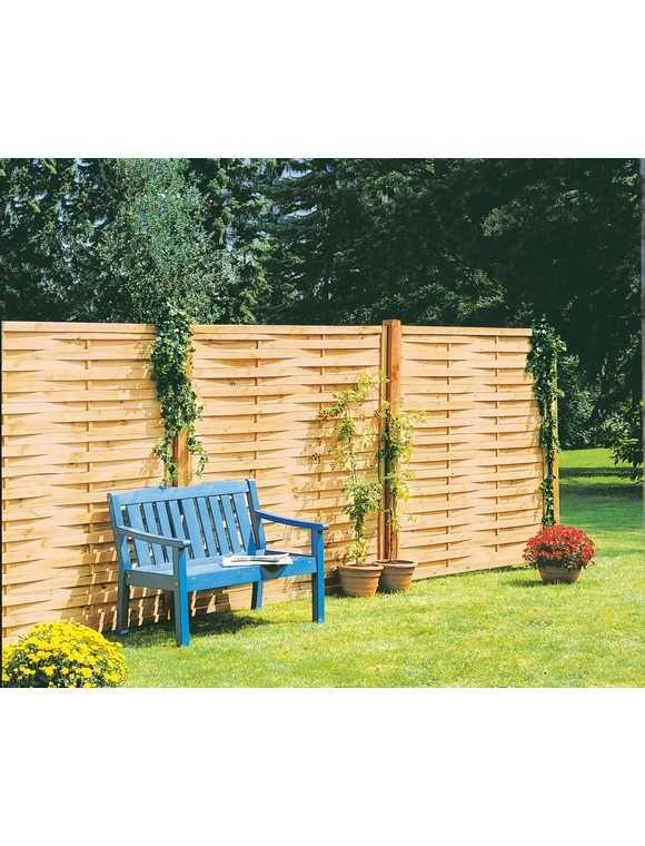 Mr Gardener Lamellenzaun Kdi Grun 180x180cm Zaune Holz Garten Bau