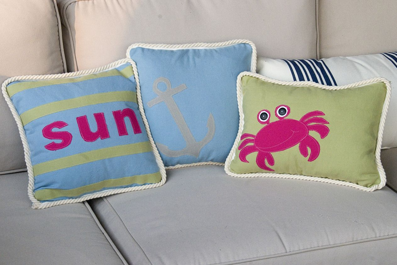 Great pillows for carterus ocean room theme great for a beach house