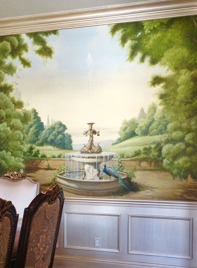 Dining Room Mural By Belle Arti