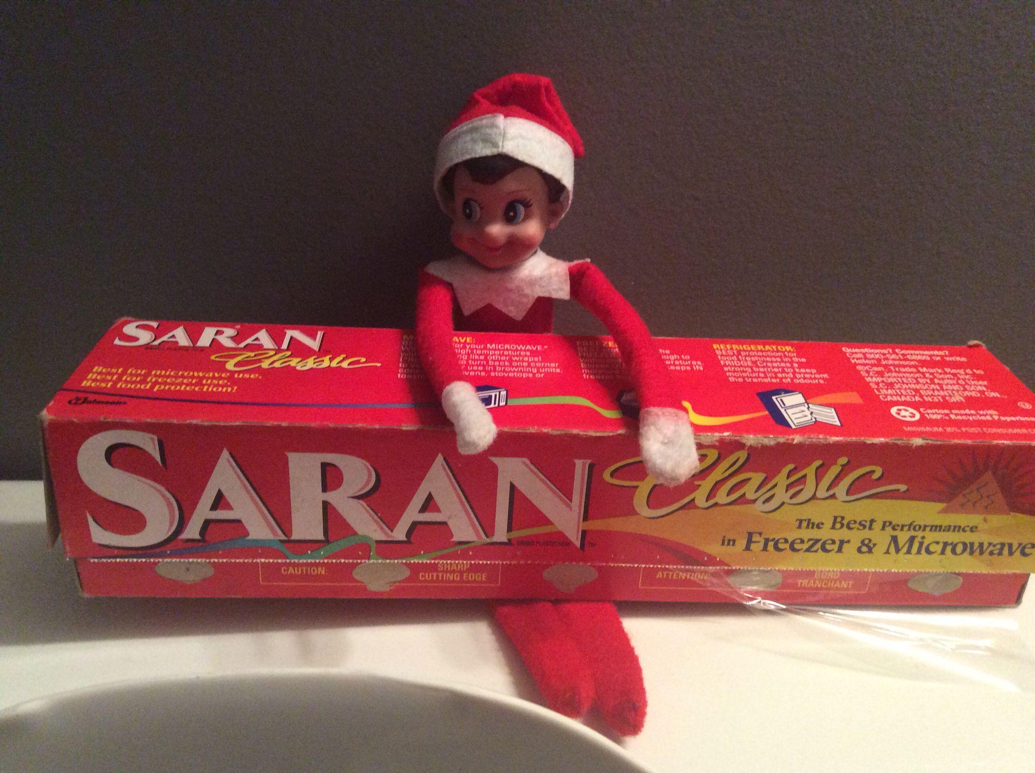 Saran wrapped the toilet