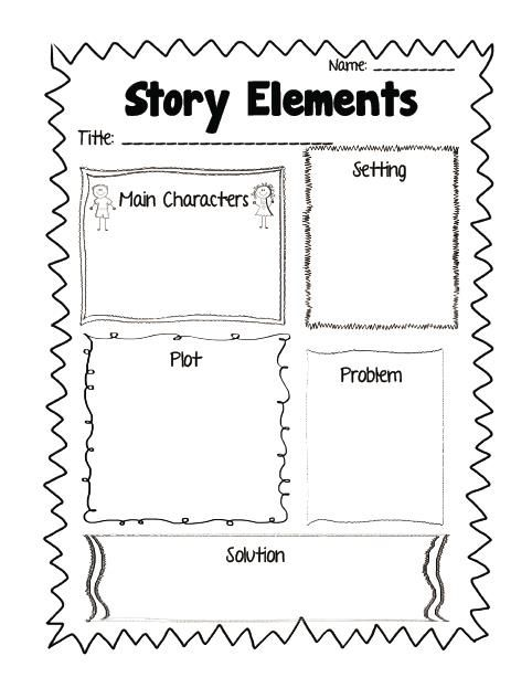 Elements of a story worksheets