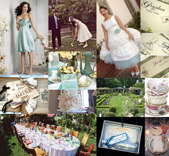 Brainstorming Our Low Budget DIY Alice In Wonderland Wedding Reception
