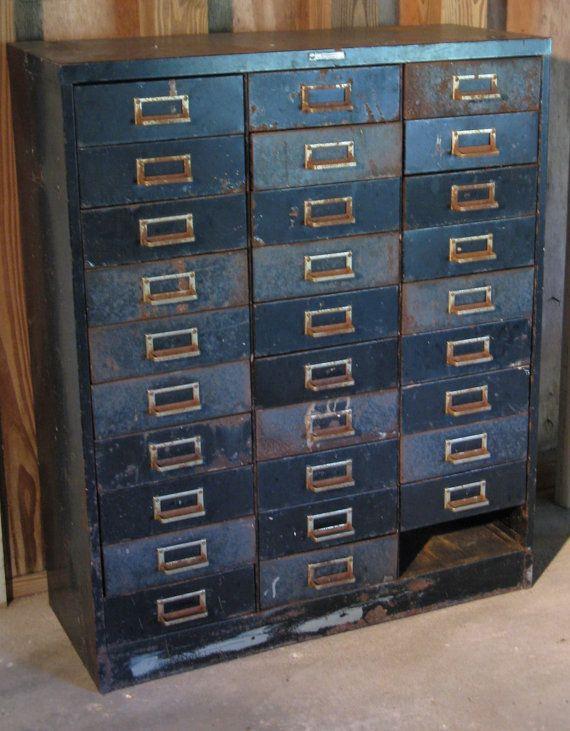 Vintage Mid Century Steelmaster Steel Metal Indsutrial Hardware File Cabinet Tool Craft Apothecary 30 Filing Cabinet Metal Filing Cabinet Metal Drawer Cabinet