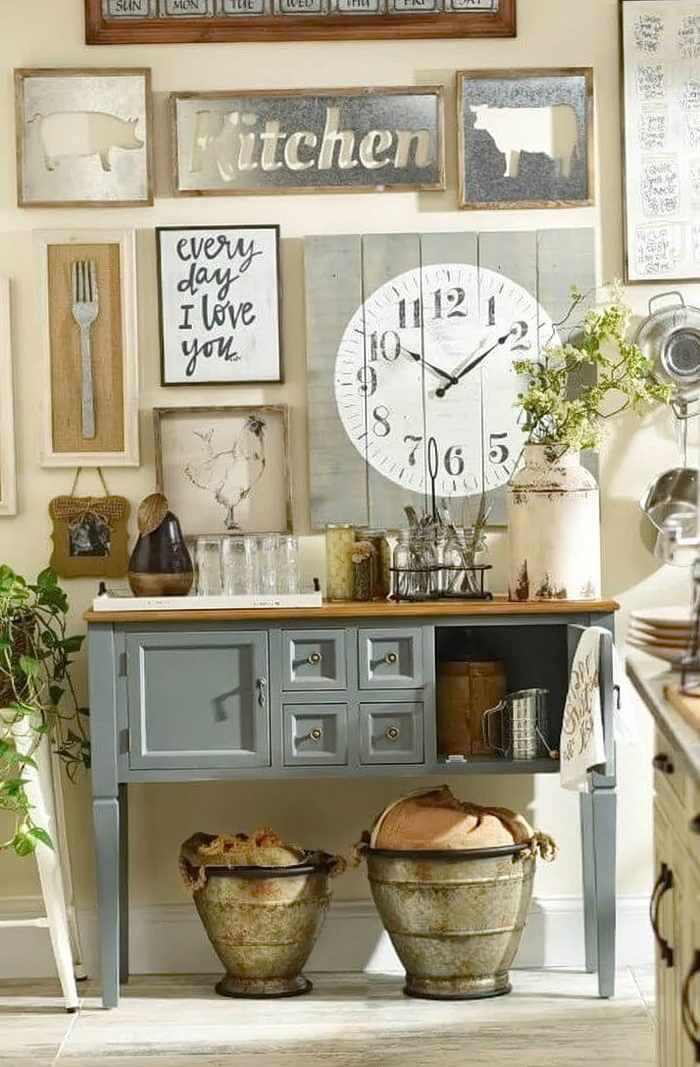 Kitchen Wall Decor Ideas Diy And Unique Wall Decoration Country Kitchen Wall Decor Farmhouse Kitchen Decor Kitchen Wall Decor