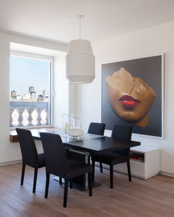 Two Apartments Become A Modern Nyc Home Design Milk Living Room Art Dining Room Art Modern Dining Room