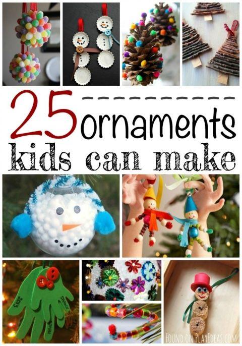 25 Christmas Ornaments Kids Can Make Kids Christmas Ornaments Kids Ornaments Christmas Crafts