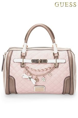 Guess Pink Quilted Charm Bowling Bag From The Next Uk Online