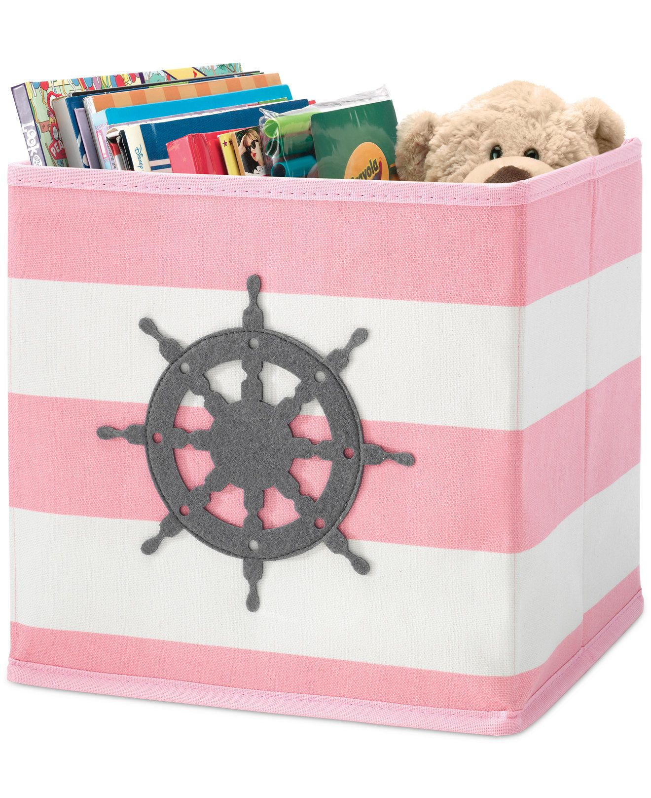 Whitmor Kids Pink Nautical Collapsible Cube   Storage U0026 Organization    Macyu0027s