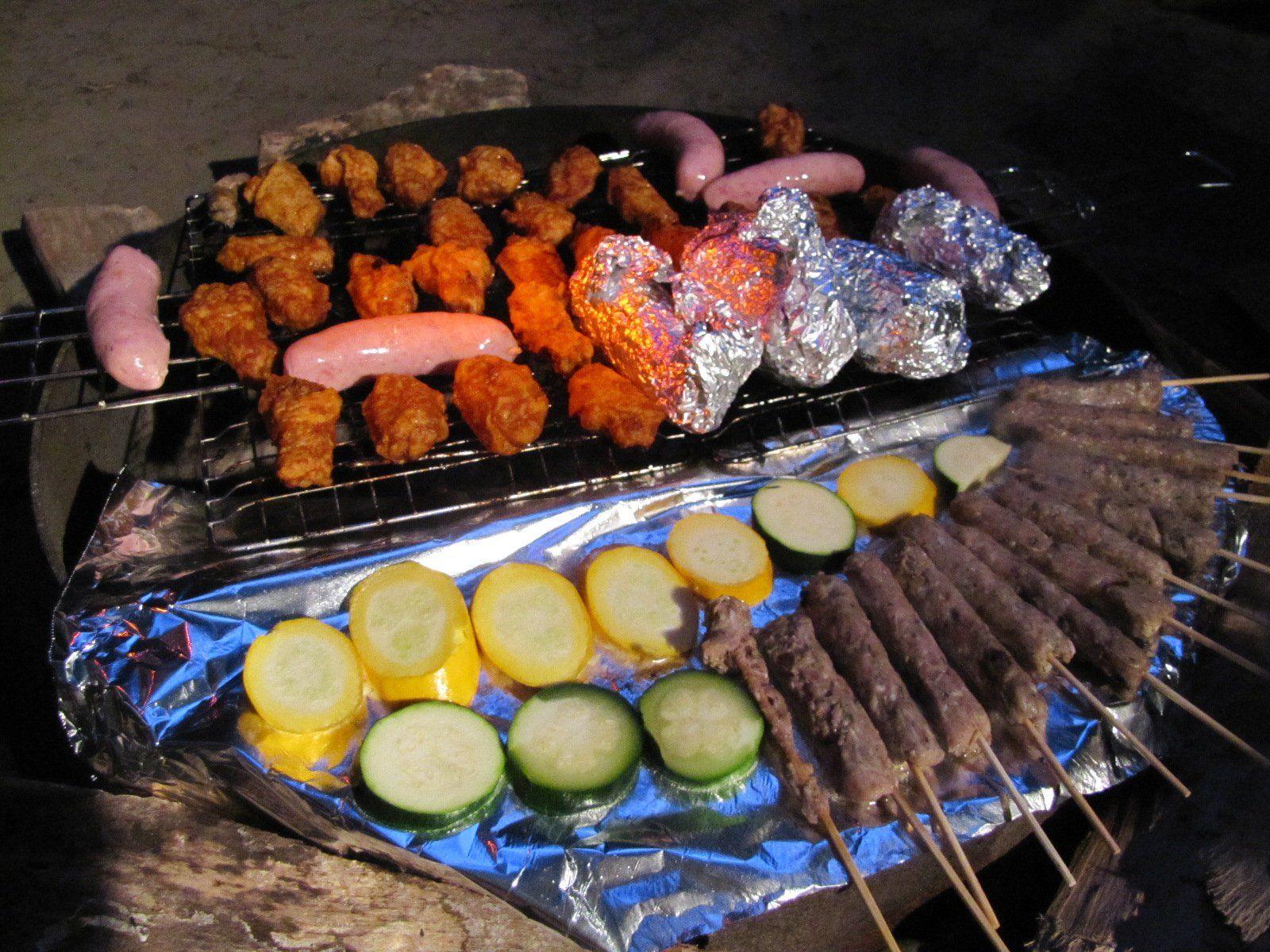 Campsite bbq meat bar