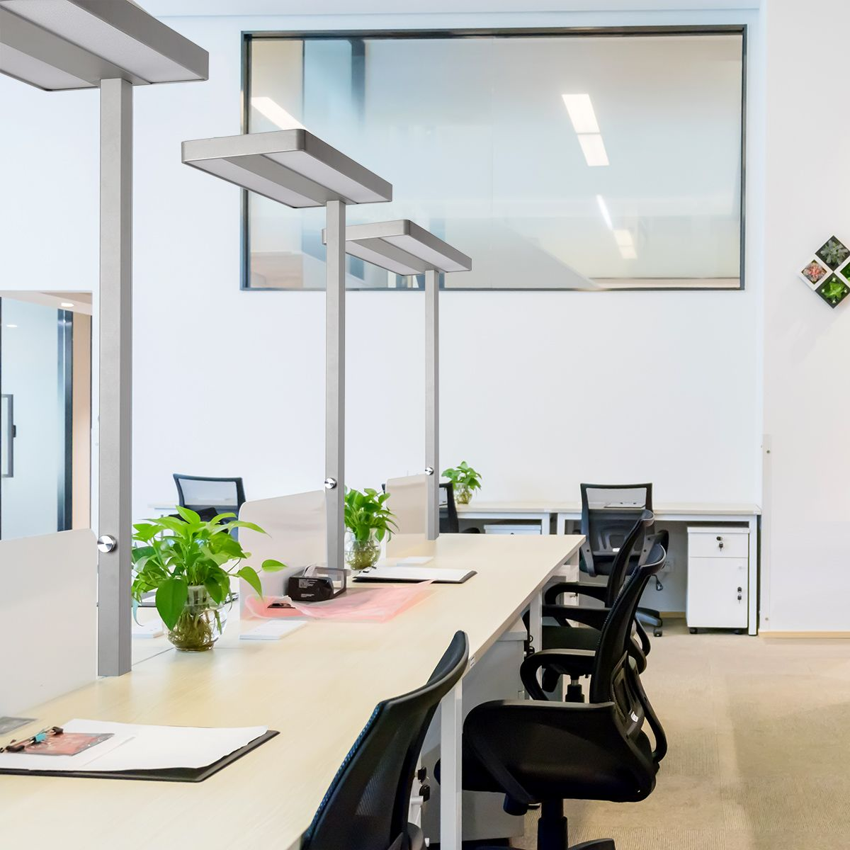 60W Dimmable Neutral White LED Floor Lamp for Living Room, Bedroom ...