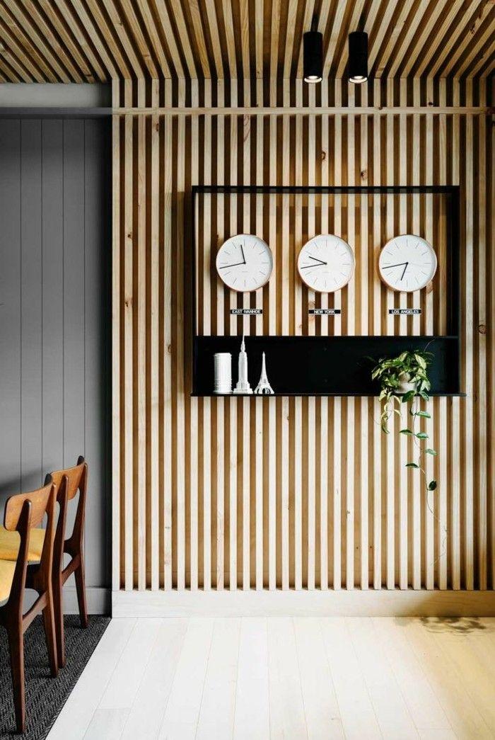 Holzwand im Innenraum- ein Evergreen, der sowohl rustikal, als auch luxuriös erscheint #rusticinteriors