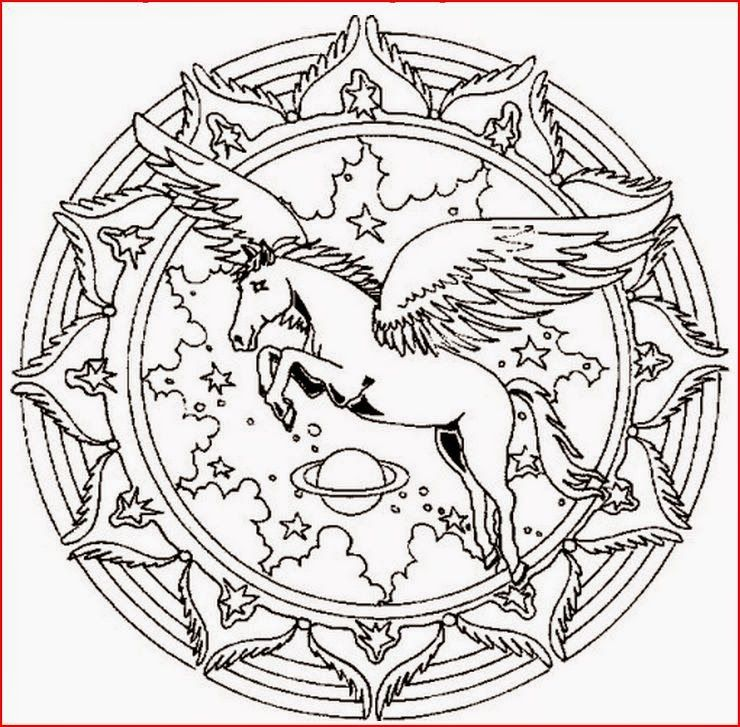 Coloring In Pages Horses : Coloring pages: horse mandala pages free and printable
