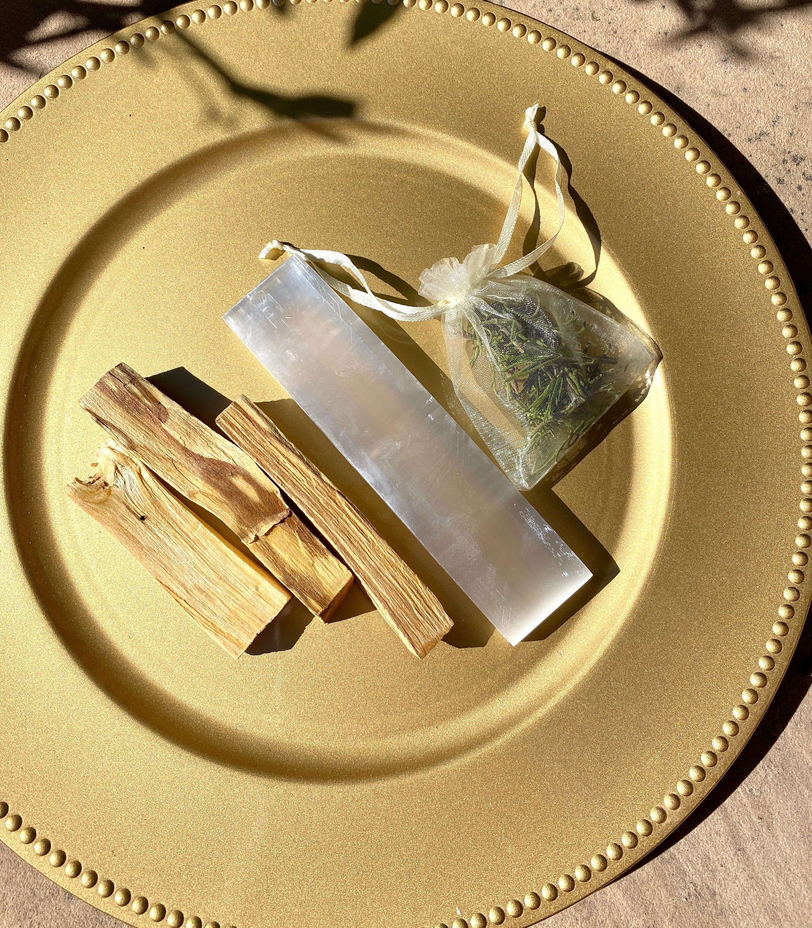 how to cleanse selenite plate