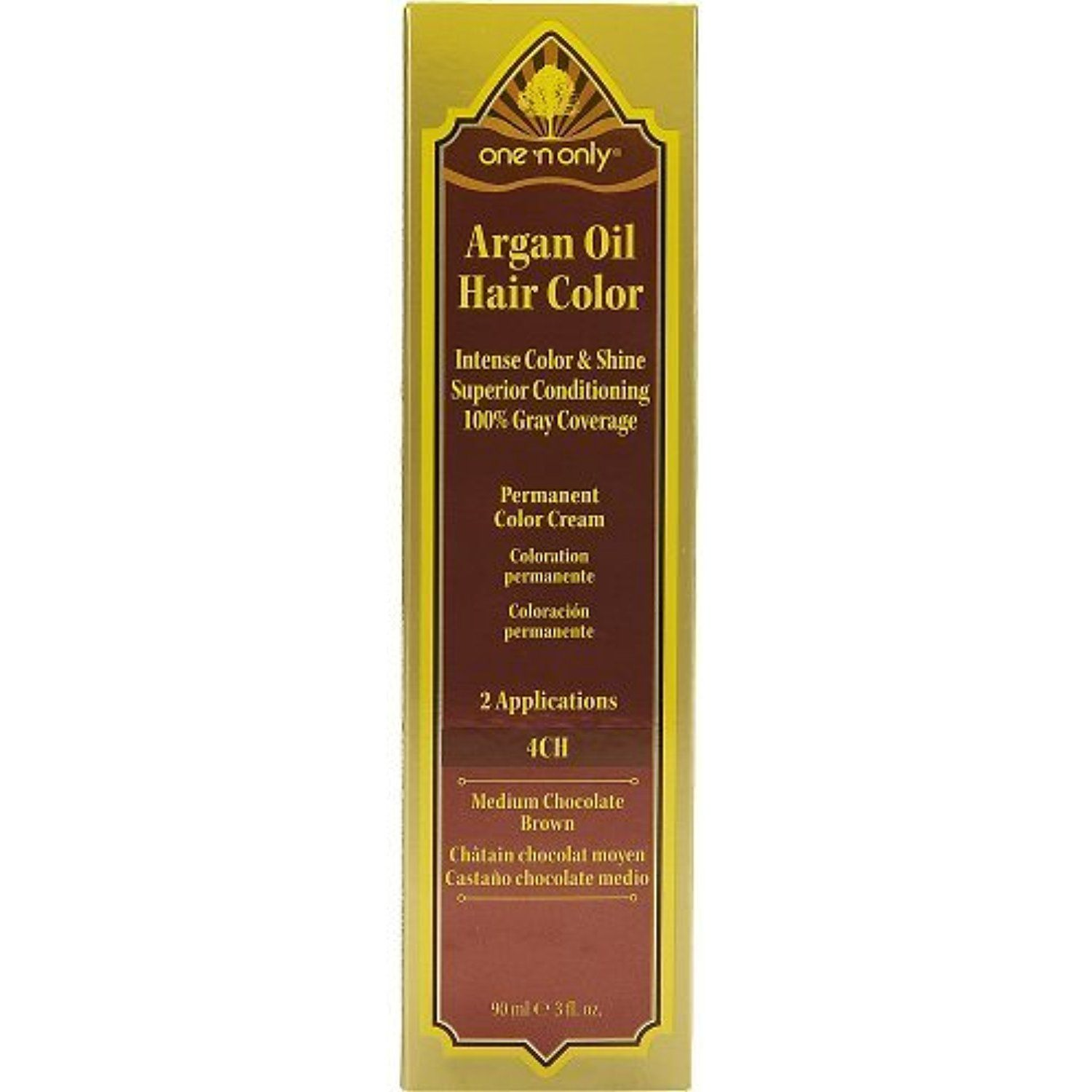 One N Only Argan Oil Hair Color 4ch Medium Chocolate Brown Click Image For More Details This Is An Affilia Argan Oil Hair Color Argan Oil Hair Hair Color