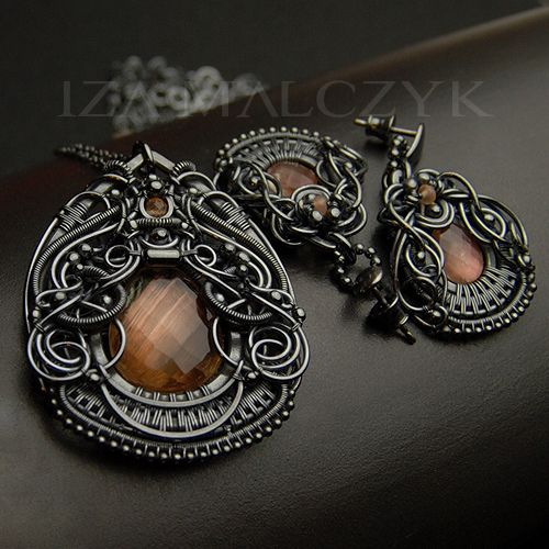 Necklace and Earrings   Iza Malczyk. Silver