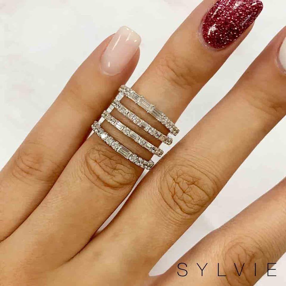 Wedding Bands Diamond Wedding Rings Sylvie Collection Diamond Wedding Bands Baguette Wedding Band Wedding Ring Bands