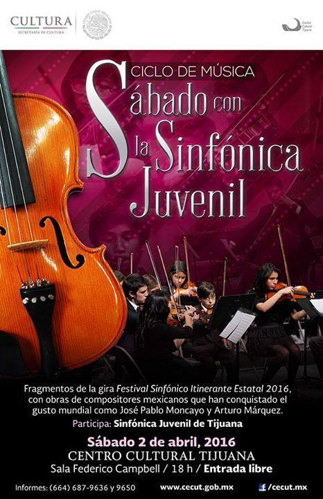 Sábado con la Sinfónica Juvenil en el CECUT  info en http://tjev.mx/1TfvkHR #Conciertos más info en http://tjev.mx/9jUxqh