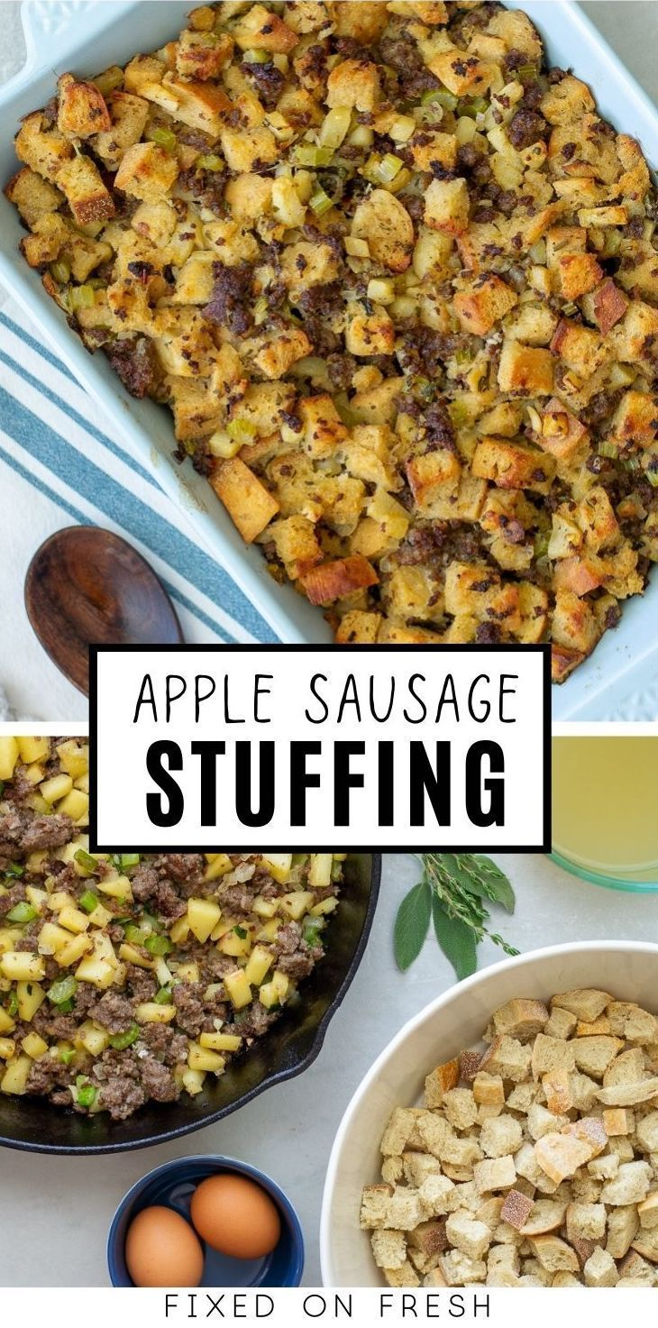 Sourdough Apple Sausage Stuffing - Fixed on Fresh