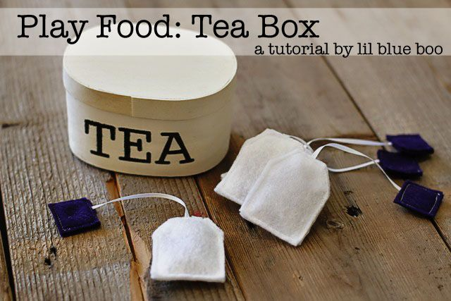 How to make a play tea set. Felt food tutorials from lilblueboo.com @Vanessa Janssen this seems right up your alley!