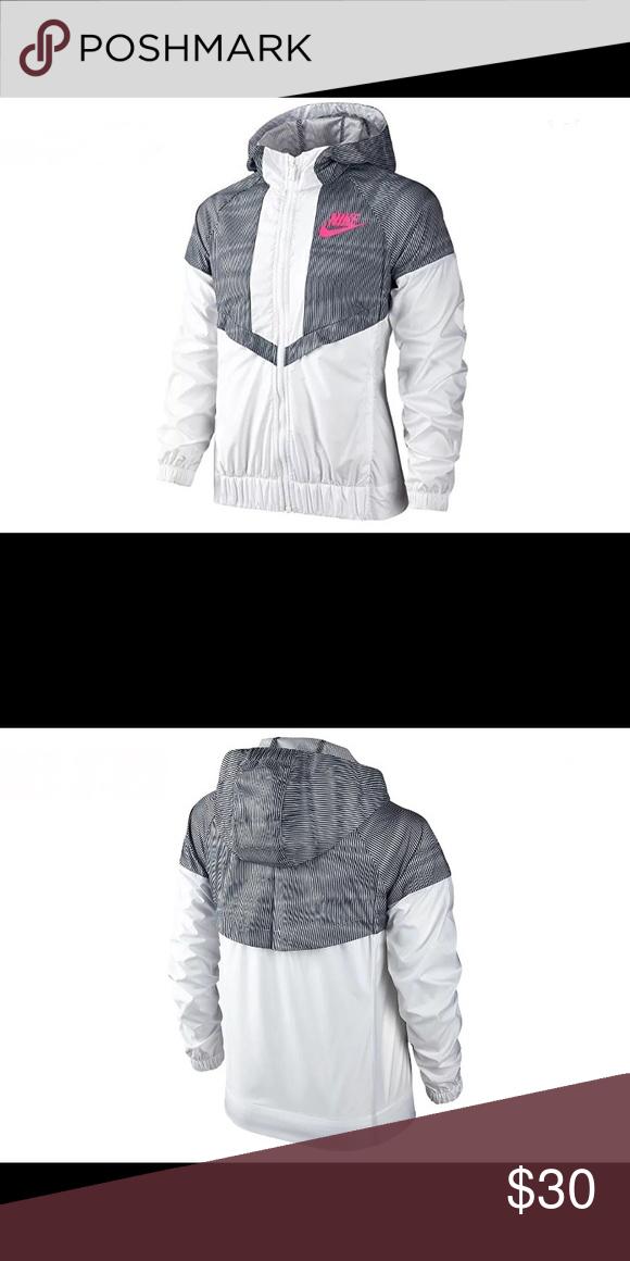 Grey white and Pink Nike Windbreaker Used  5f6a6e7c2