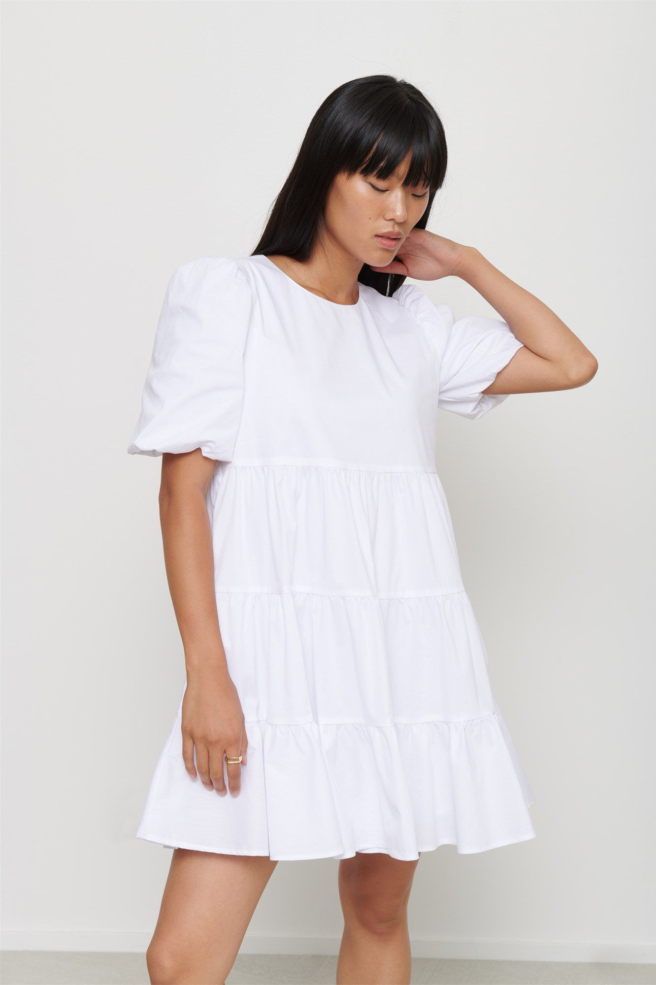 Francesca Poplin Trapeze Dress Trapeze Dress Dresses Dresses With Sleeves [ 2000 x 1332 Pixel ]