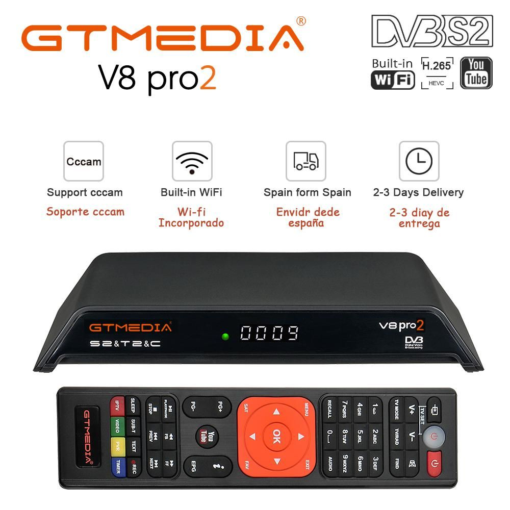 Freesat V8 PRO2 Combo Satellite Receiver With Free 1 Year