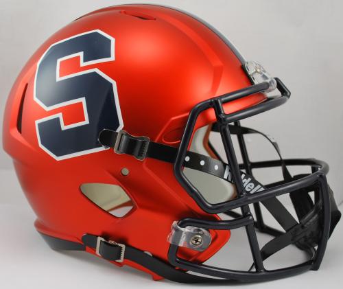 Syracuse Orangemen Speed Replica Football Helmet White Football Helmets Cool Football Helmets Syracuse Football