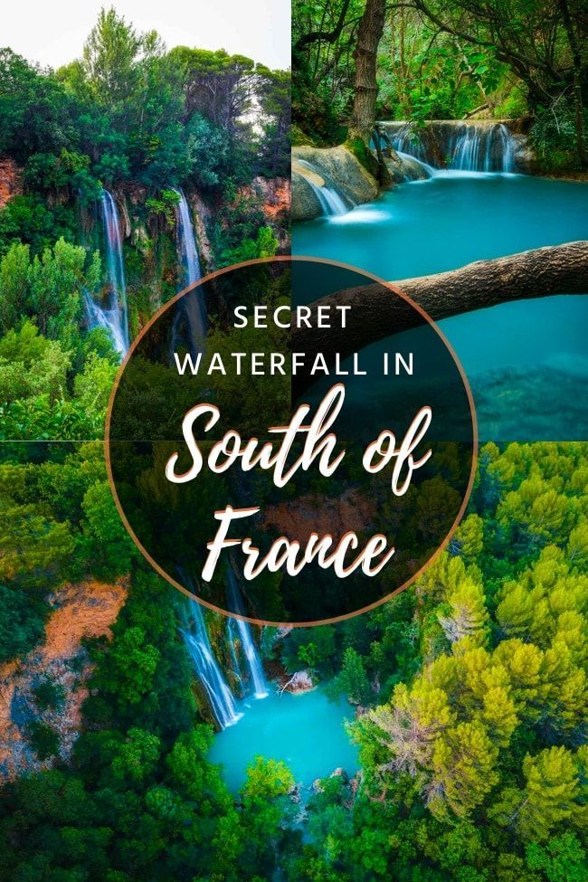 France travel. Sillans la Cascade - Amazing waterfall in Var, France   Sillans la Cascade is a small town in the South of France, famous mostly for its epic 42 meters (138 feet) high waterfall. It's the perfect day trip from Marseille, Nice, or Aix-en-Provence. Let's explore it together! #francetravel #waterfall #springtravel #traveldestinations #travelinspiration #traveltips