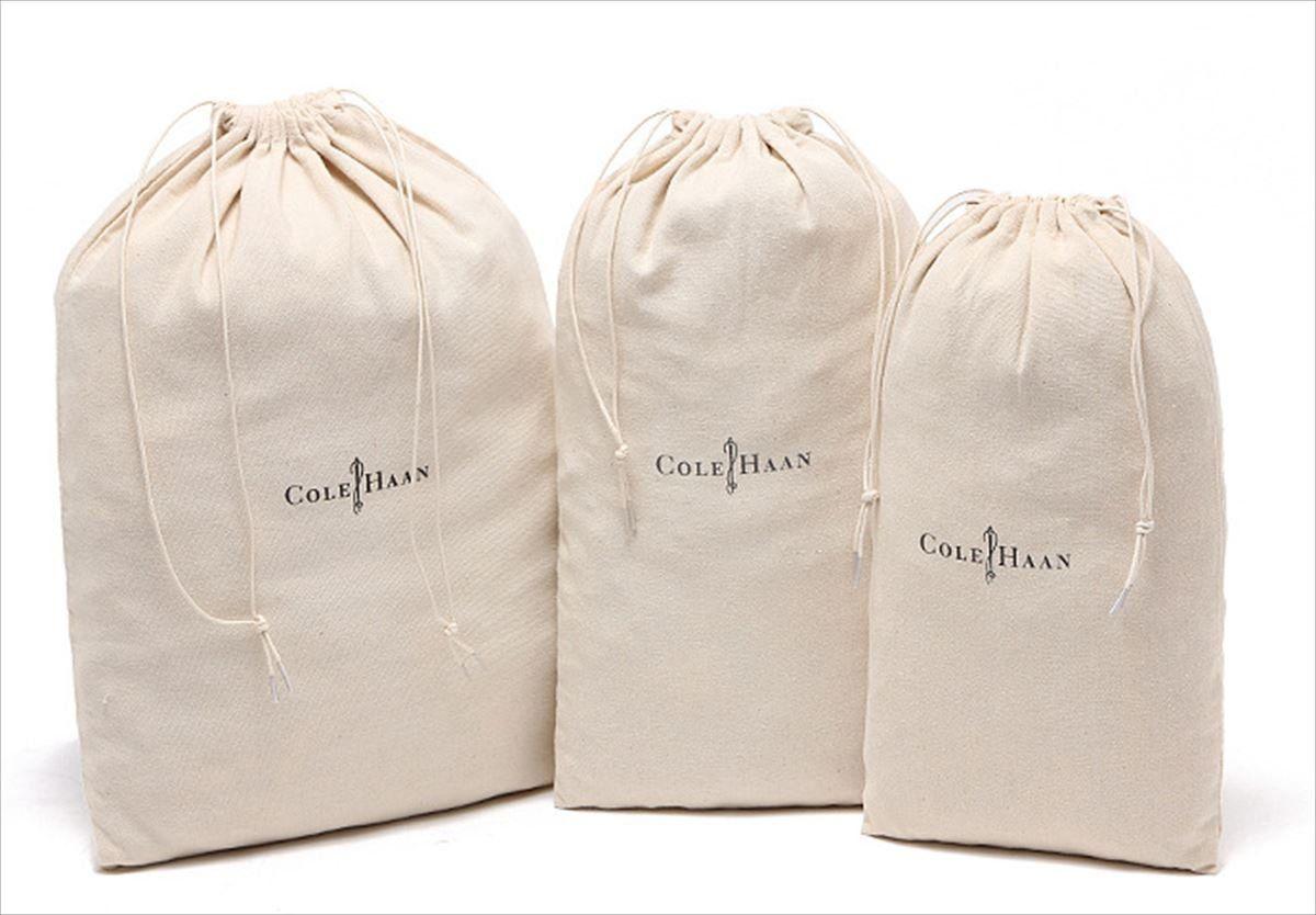 【パンダファミリー】 衣類 小物 収納 巾着袋 3枚セット ナチュラルカラー L M S 3
