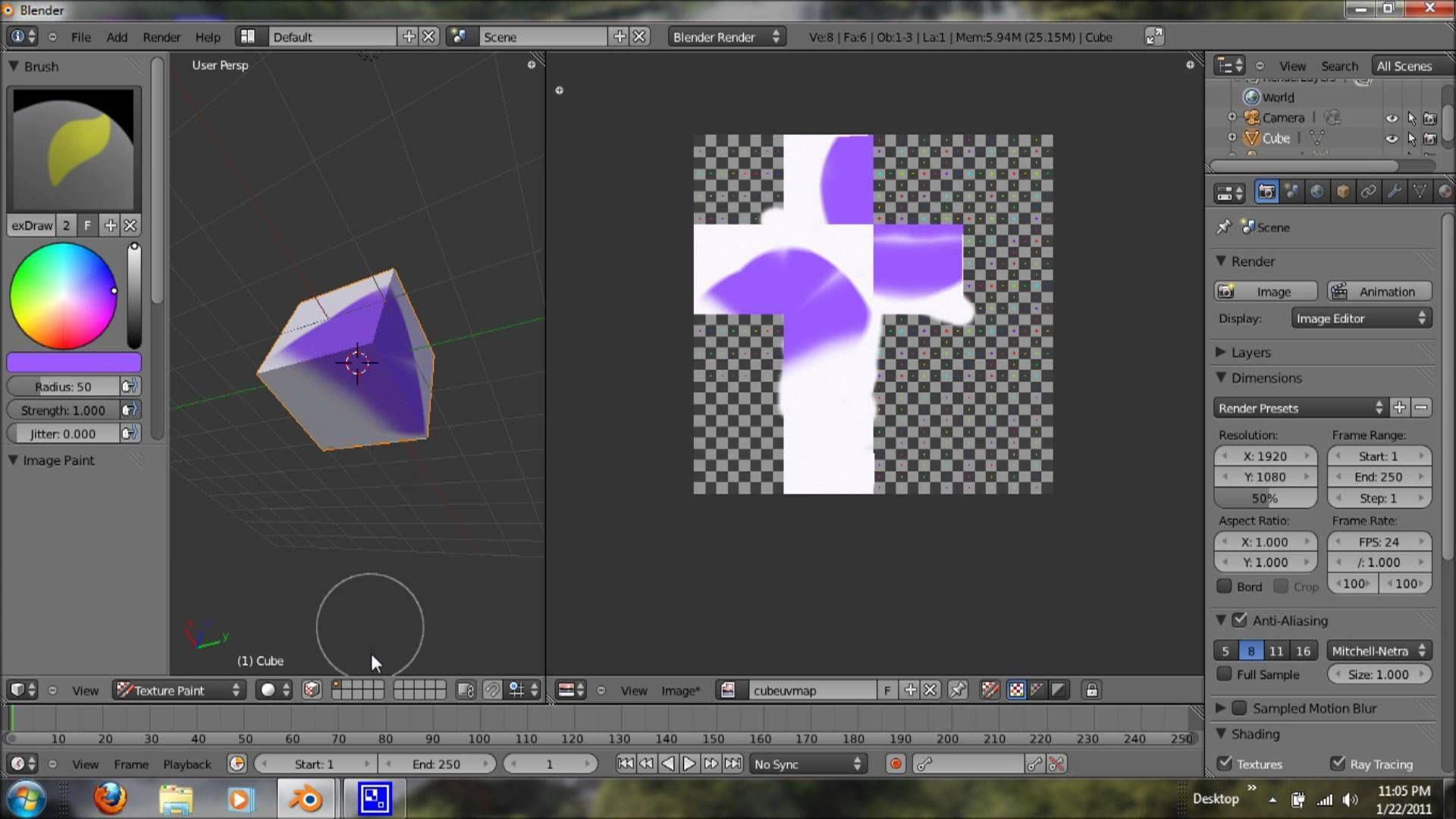 Blender 2.5 Tutorial Texture Painting (For Beginner's