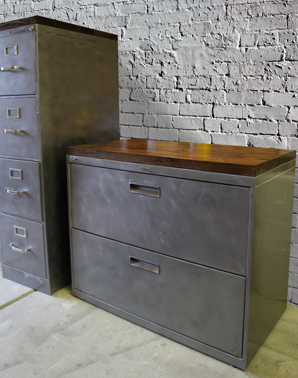 Refinished Metal Filing Cabinet 30 36 Or 42 Etsy In 2020 Office Storage Cabinets Rustic Office Storage Metal Filing Cabinet