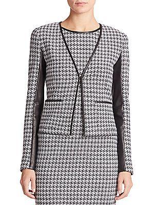 b18dd3d2a St. John Houndstooth Knit Jacket - Black - White - Size 1