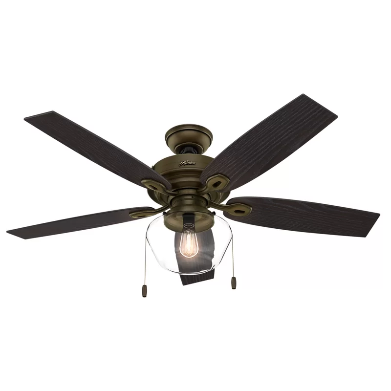 Union Rustic 52 Heskett 5 Blade Ceiling Fan Light Kit Included Wayfair Bronze Ceiling Fan Ceiling Fan Ceiling Fan With Light