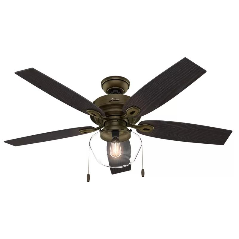 52 Heskett 5 Blade Ceiling Fan Light Kit Included Bronze