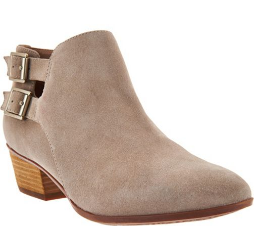 Clarks Artisan Leather Stacked Heel Ankle Boots - Spye Astro