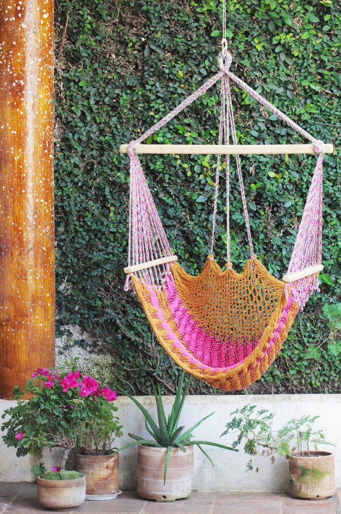 crochet hammock chair   pink crochet hammock chair   pink   home goods   pinterest   crochet      rh   pinterest