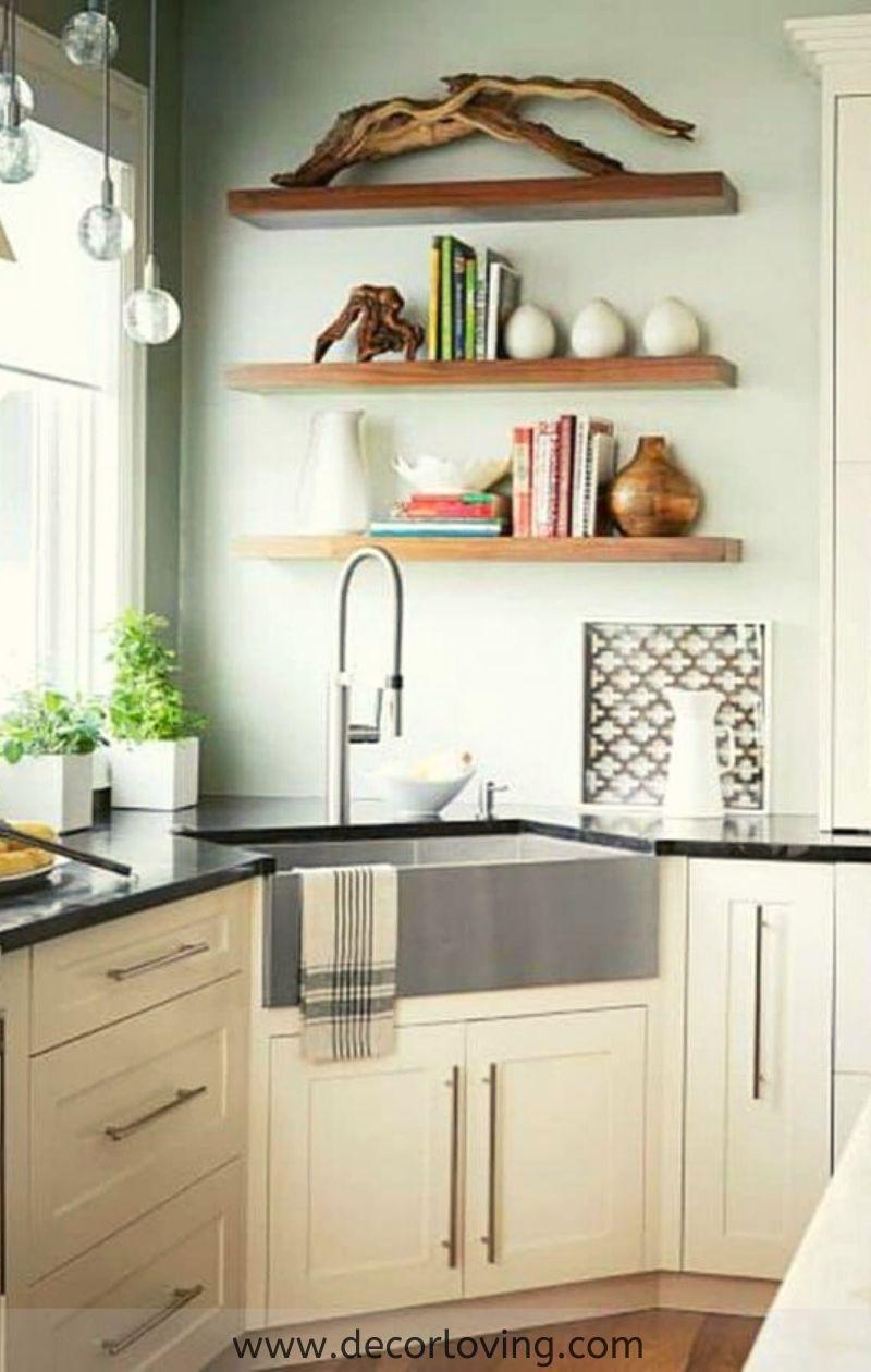 Fantastic Ideas Of Corner Kitchen Organization And Design Ideas Corner Sink Kitchen Kitchen Design Home Kitchens
