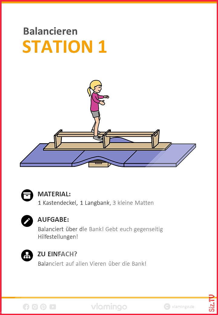 Balancieren 38 Stationskarten für den Sportunterricht Gleichgewicht Balanciere … - Famous Last Words