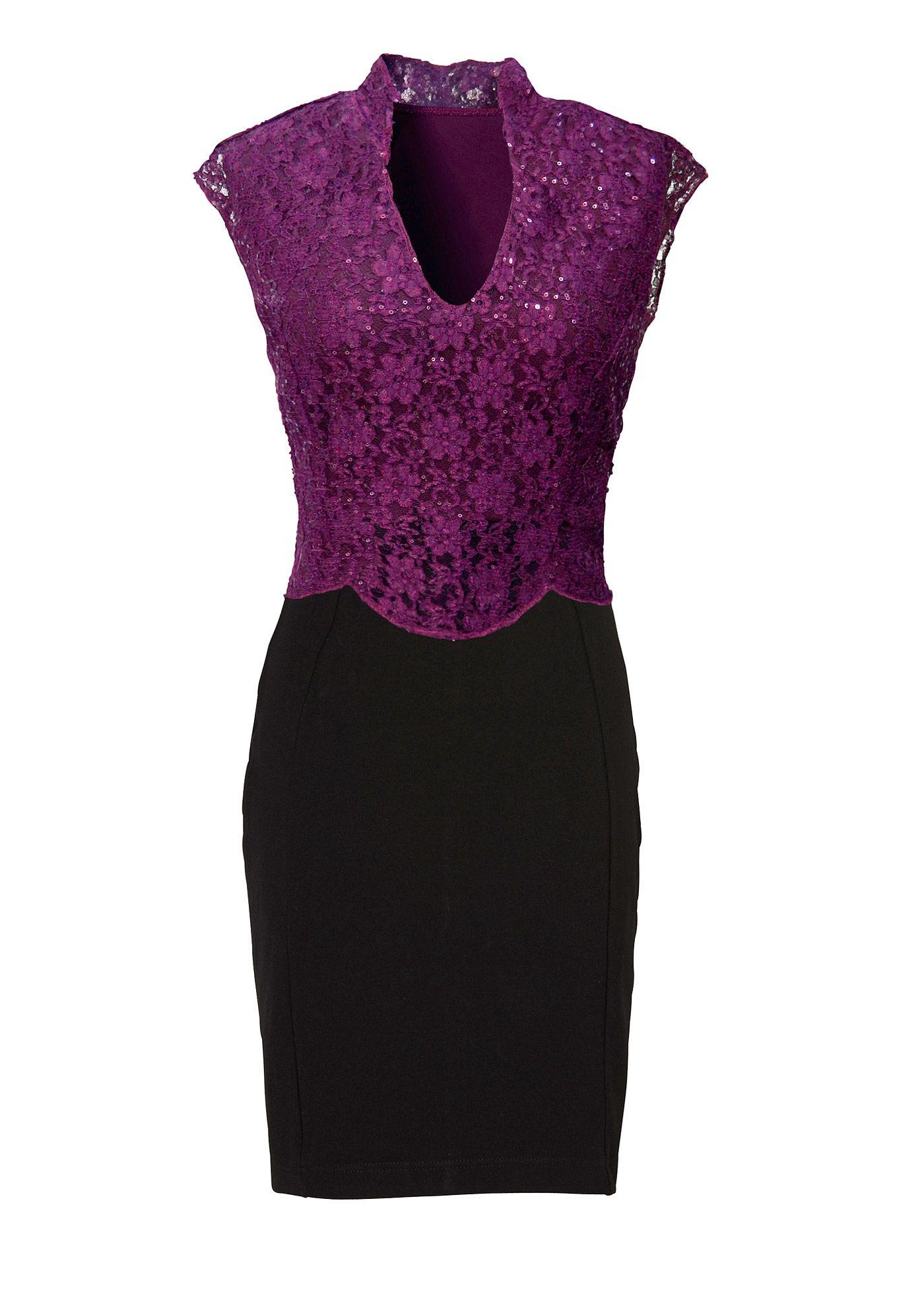 Vestido preto/fúcsia encomendar agora na loja on-line bonprix.de R ...
