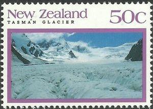 Sello: Tasman (Nueva Zelanda) (Scenery – Glaciers) Mi:NZ 1231,Sg:NZ 1676