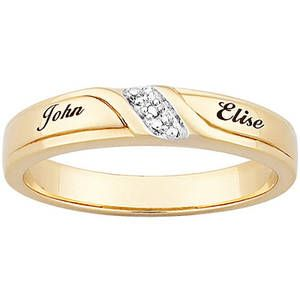 rose rings engravable russian gold roll name triple ring wedding engraved
