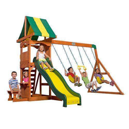Backyard Discovery™ Weston Wooden Swing Set | Cedar swing ...